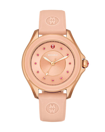 Cape Topaz Watch with Silicone Strap, Pink