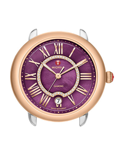 16mm Serein Purple Diamond Watch Head, Two-Tone