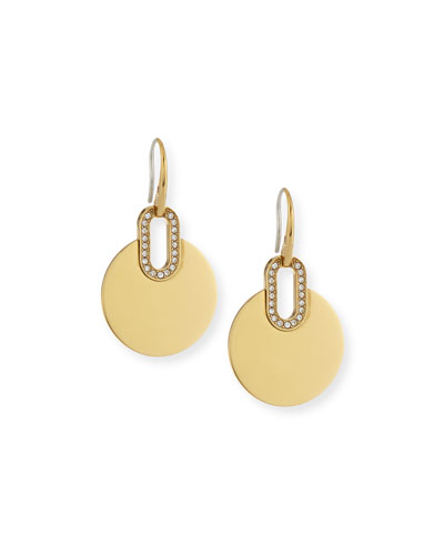 Pave City Disc Earrings