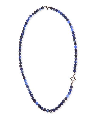 Sodalite Beaded Necklace with Diamond Cravelli