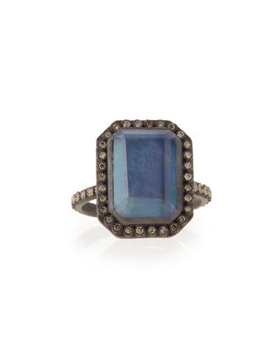 Old World Emerald-Cut Stack Diamond Ring