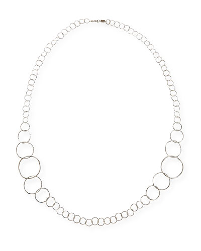 Silver Glamazon Extra Long Link Necklace, 47.5