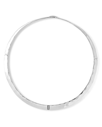 Sterling Silver Senso™ Collar Necklace with Diamonds