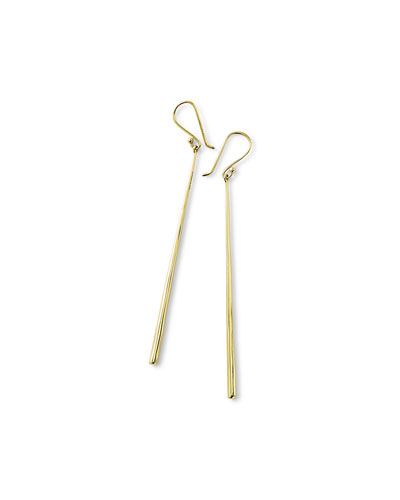 18k Glamazon Thin Elongated Earrings