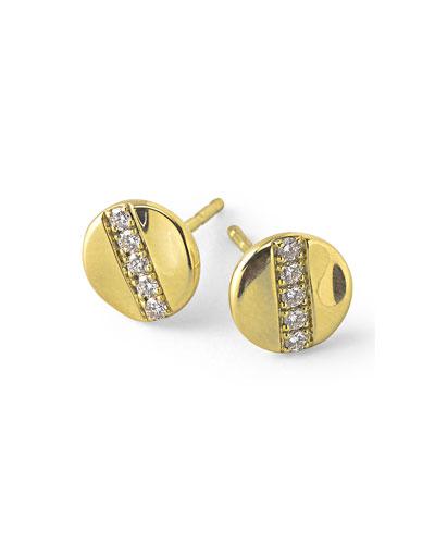 18K Gold Senso™ Stud Earrings with Diamonds