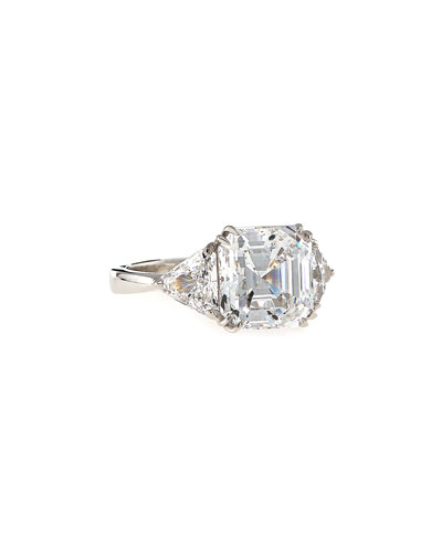 Asscher-Cut Cubic Zirconia Ring