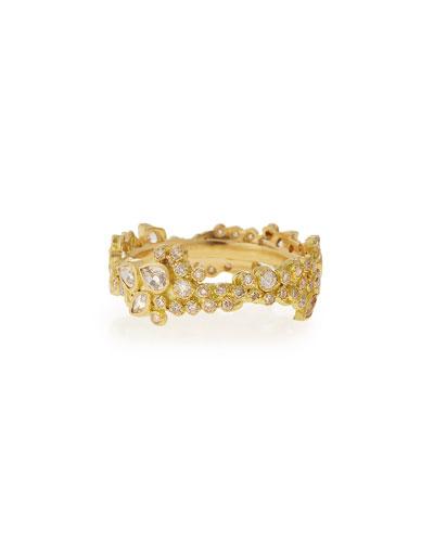 Sueño 18k Cluster Diamond Stack Ring