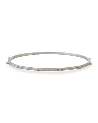 New World Granulated Silver Bangle Bracelet
