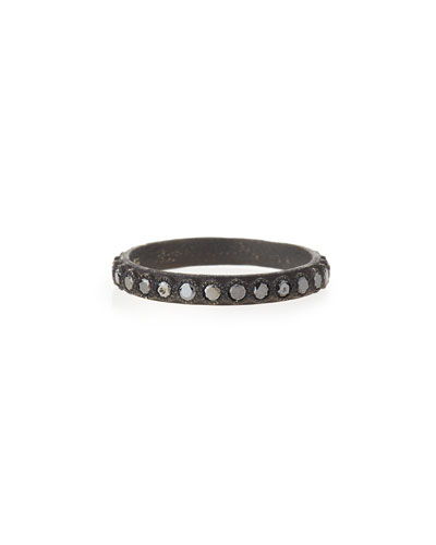 Black Diamond Stackable Band Ring
