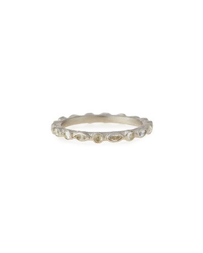 New World White Sapphire Stack Ring