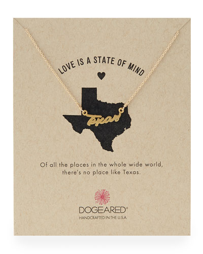 Gold-Dipped Texas Script Necklace
