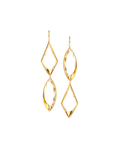 14k Elite Jetset Crystal Remix Earrings