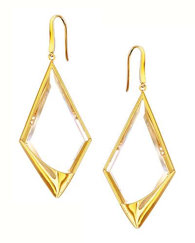 14k Elite Jetset Crystal Dangle Earrings