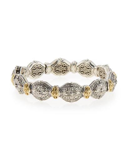 Thalassa Silver & 18k Gold Link Bracelet