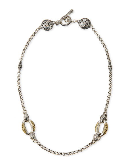 Konstantino Daphne Silver & 18k Gold Chain Necklace