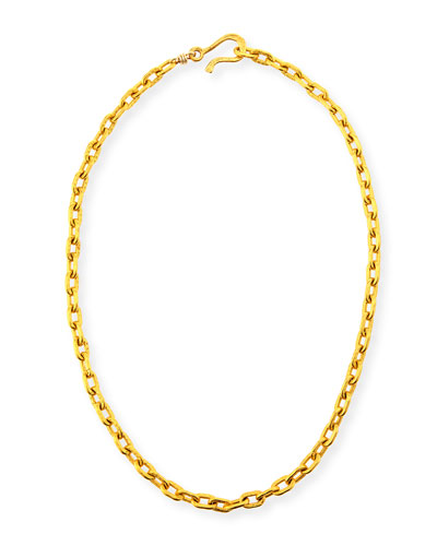 Tight Link Chain Necklace, 18