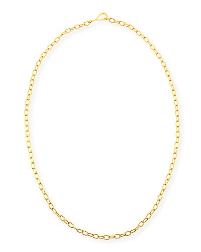 Small Oval-Link Chain Necklace, 36