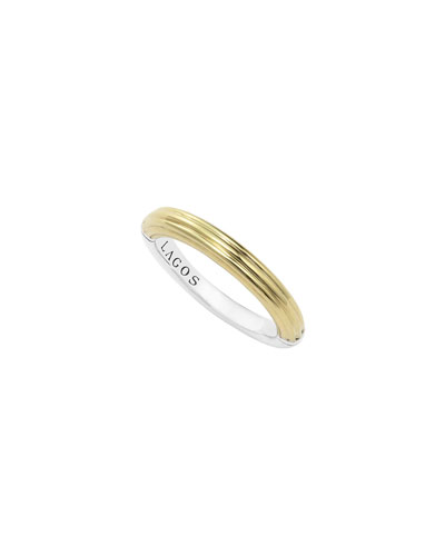 Fluted Stacking Ring, Size 7