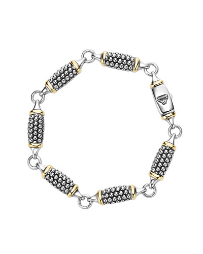 6mm Caviar Link Station Bracelet