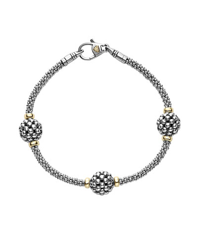 10mm Caviar Ball Station Bracelet