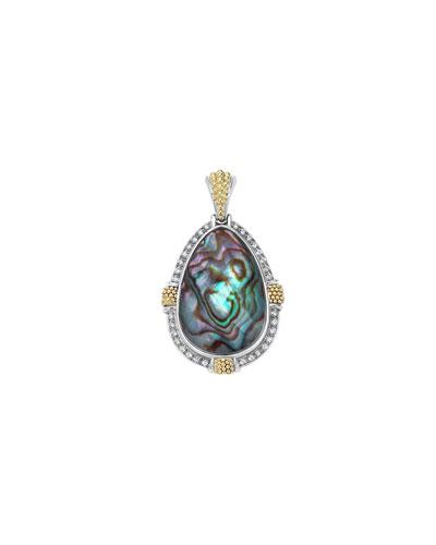 18K Gala Abalone & Diamond Pendant