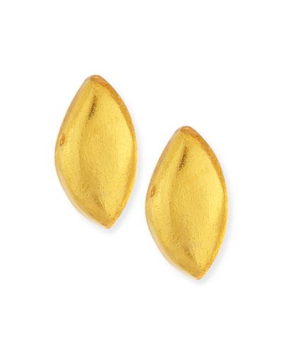 Laminated Gold Foil Petal Earrings