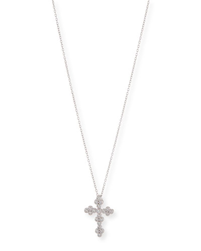 Provence Tiny Diamond Cross Pendant Necklace