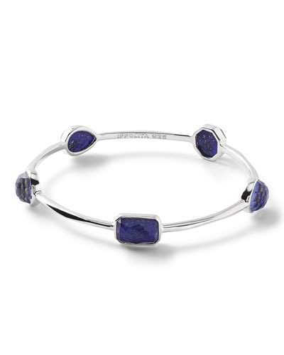 925 Rock Candy® 5-Stone Bangle in Lapis Doublet