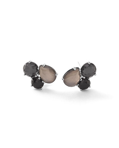 Rock Candy® Cluster Black Tie Earrings