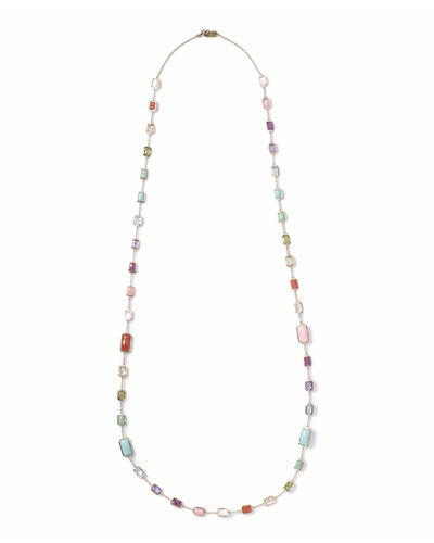 18k Rock Candy Summer Rainbow Chain Necklace, 34