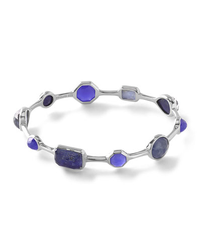 925 Rock Candy Oval Bangle Bracelet, Odyssey