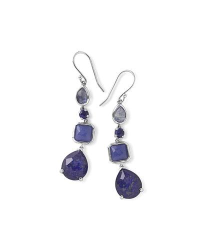 925 Rock Candy 4-Stone Linear Earrings, Odyssey