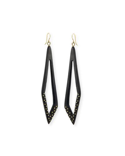 Huru Dark Horn Dotty Earrings