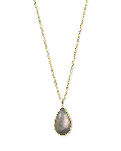 Rock Candy® Teardrop Pendant Necklace in Black Shell