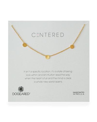 Centered Three-Pendant Necklace