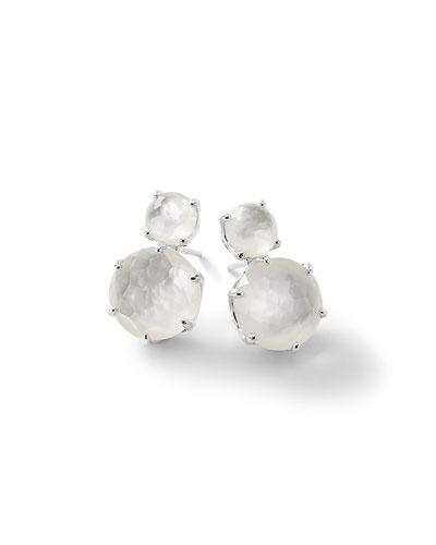 Rock Candy® Two-Doublet Earrings in Clear Quartz