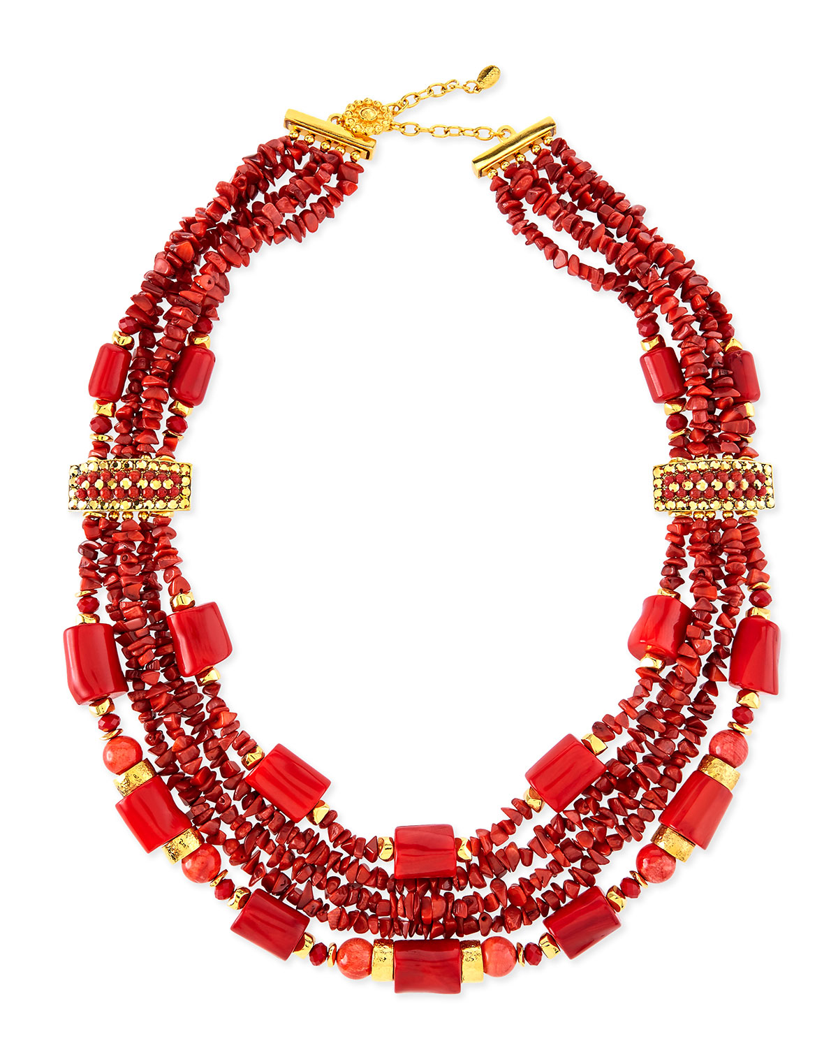 24K Gold Chunky Coral Necklace