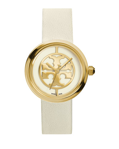 Reva 36mm Stainless Steel Watch, Ivory