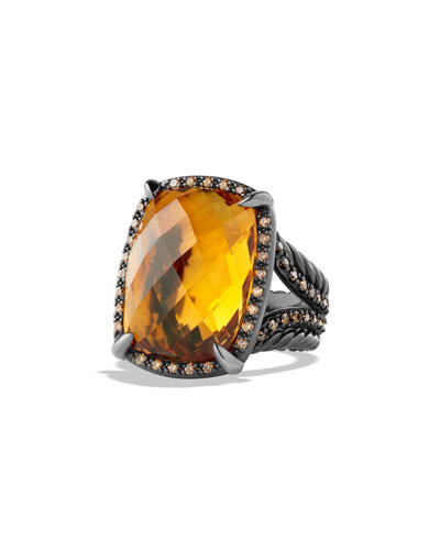 Chatelaine Ring with Citrine and Cognac Diamonds