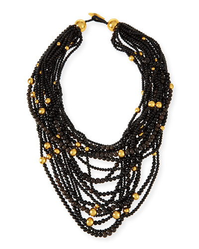 Multi-Strand Beaded Statement Necklace