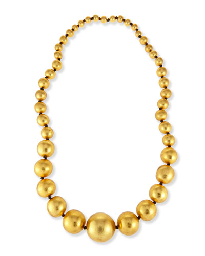 Statement Gold Foil Beaded Necklace, 39