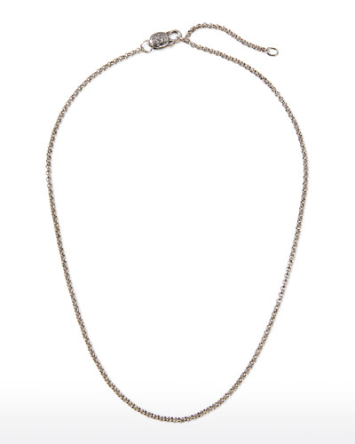 Sterling Silver Adjustable Chain Necklace, 18-20