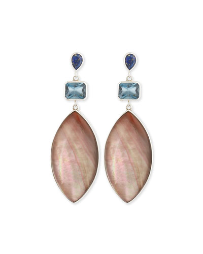 Cyprus Marquise Mother-of-Pearl Earrings