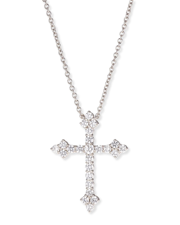 2.25 TCW Large CZ Cross Pendant Necklace