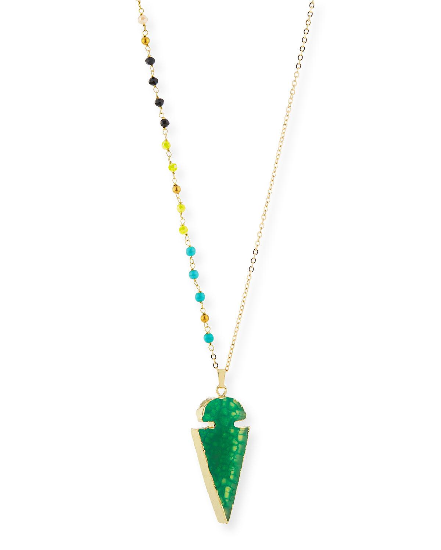 Agate Arrowhead Pendant Necklace