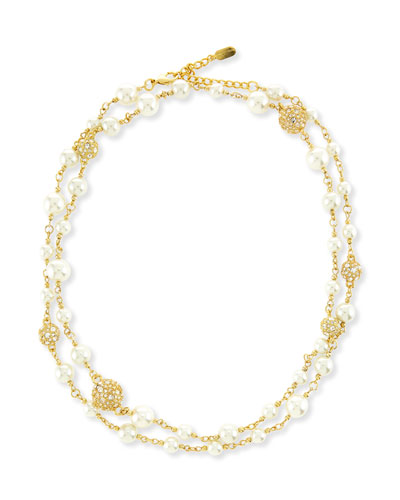 Pearly Crystal Necklace, 42