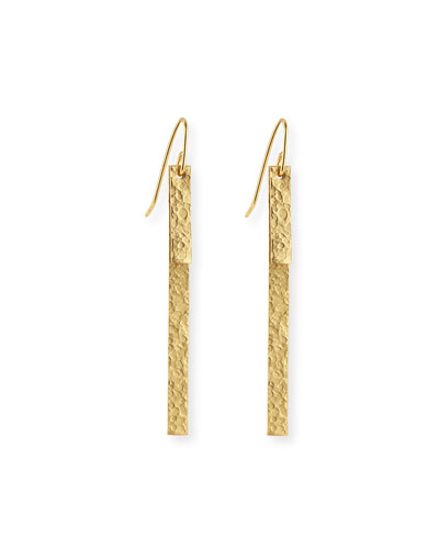 Hammered Column Duo Earrings