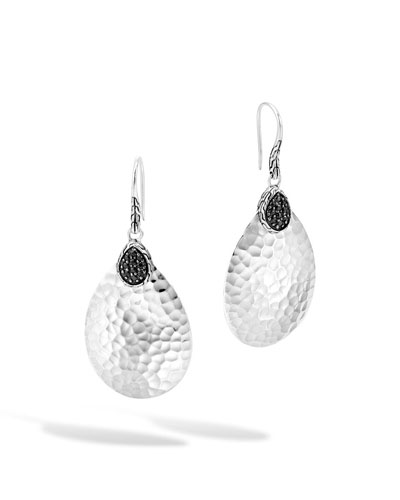 Classic Chain Small Black Sapphire Drop Earrings