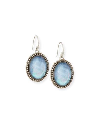 New World Blue Sapphire Doublet Earrings