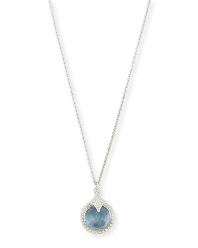 New World Blue Sapphire Triplet Pendant Necklace